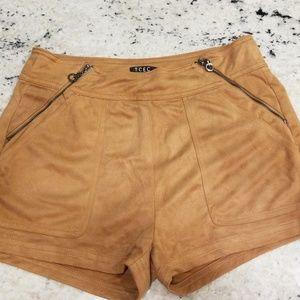 Dressy suede shorts